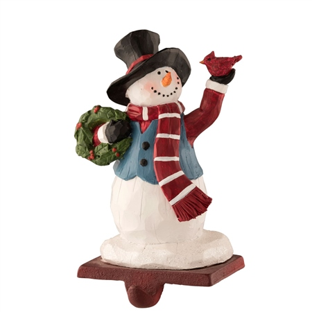 Aynsley Top Hat Snowman Stocking Holder  - Click to view a larger image