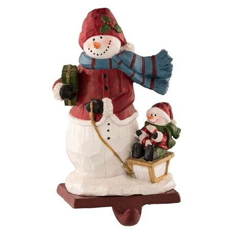 Aynsley Wooley Hat Snowman Stocking Holder  - Click to view a larger image
