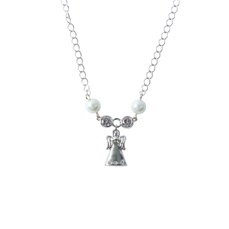 Designer Jewellery Angel Ivory Bead Necklace  - Click to view a larger image
