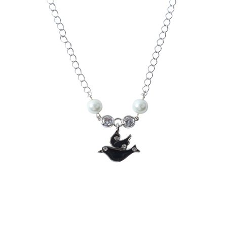 Designer Jewellery Dove Ivory Bead Necklace  - Click to view a larger image