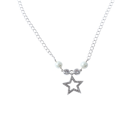 Designer Jewellery Star Ivory Bead Necklace  - Click to view a larger image