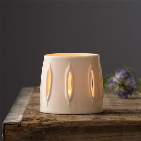 Belleek Living Reeds Votive By Wendy Ward   - Click to view a larger image