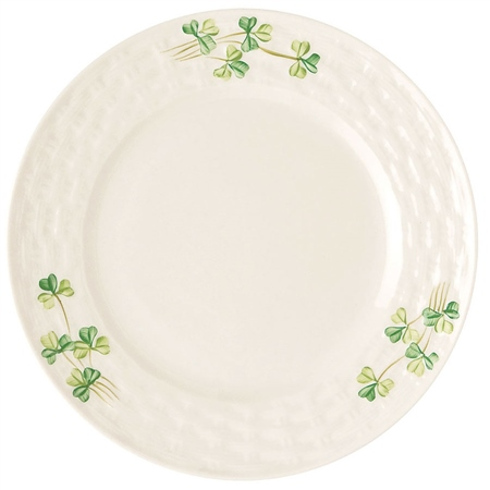 Belleek Classic Personalised Shamrock Side Plate  - Click to view a larger image