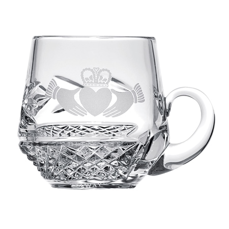 Belleek Classic Personalised Claddagh Christening Mug  - Click to view a larger image