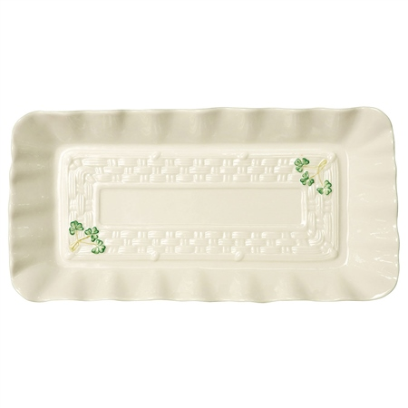 Belleek Classic Personalised Belleek Classic Shamrock Tray   - Click to view a larger image