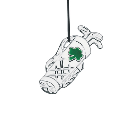 Galway Crystal Golf Bag Ornament  - Click to view a larger image