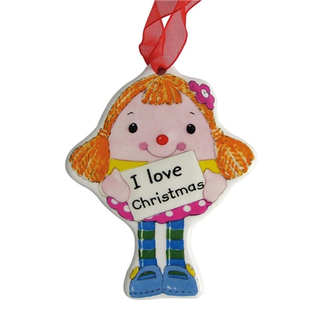 Aynsley Miss Humpty Dumpty Hanging Ornament  - Click to view a larger image