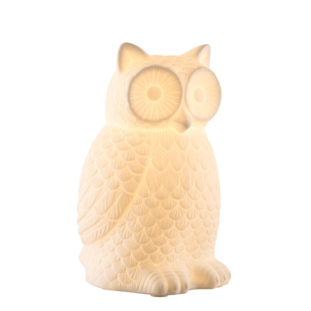 Belleek Living Wise Owl Luminaire  - Click to view a larger image