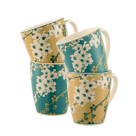 Belleek Living Bellevue 4 Mugs Set  - Click to view a larger image