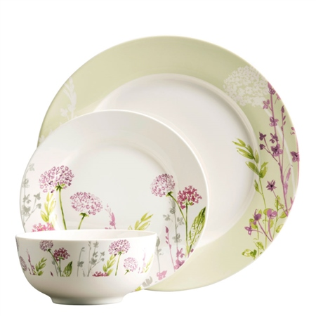 Aynsley Floral Spree 12 Piece Set  - Click to view a larger image