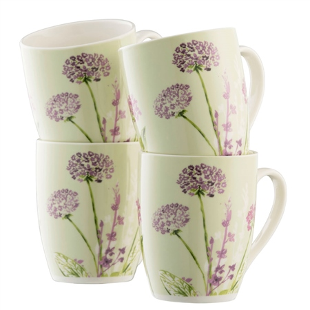 Aynsley Floral Spree 4 Mugs Set  - Click to view a larger image