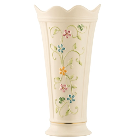 "Belleek Classic Daisy Blossom 9.5"" Vase  - Click to view a larger image"