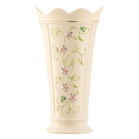 "Belleek Classic Irish Flax 9.5"" Vase  - Click to view a larger image"