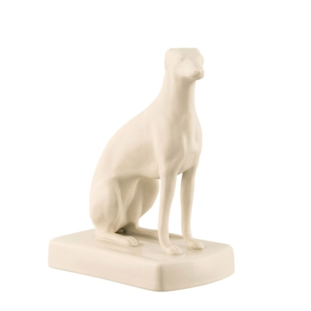Belleek Classic Masterpiece Collection - Female Greyhound Sitting  - Click to view a larger image