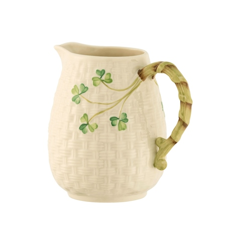 Belleek Classic Shamrock Round Bottomed Jug  - Click to view a larger image