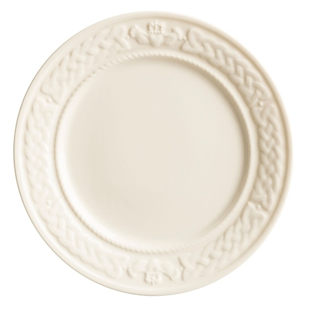 Belleek Classic Claddagh Accent Plate  - Click to view a larger image