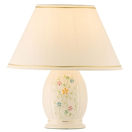 Belleek Classic Daisy Blossom Lamp & Shade  UK Fitting  - Click to view a larger image