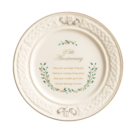 Belleek Classic 25th Anniversary Plate  - Click to view a larger image