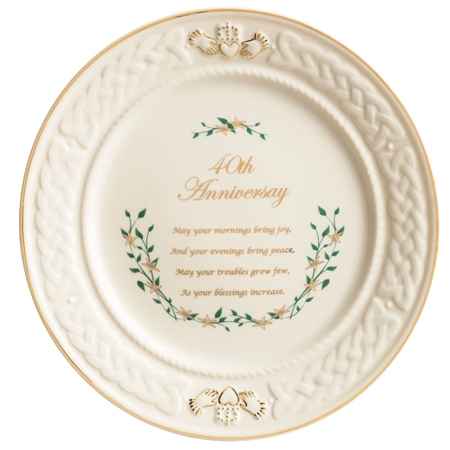 Belleek Classic 40th Anniversary Plate  - Click to view a larger image