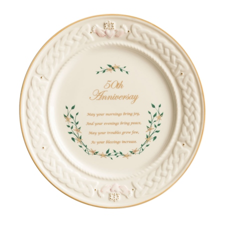 Belleek Classic 50th Anniversary Plate  - Click to view a larger image