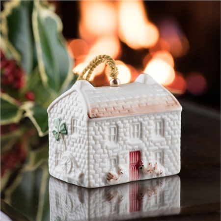 Belleek Classic Kerry Farmhouse Annual Bell Ornament 2018  - Click to view a larger image