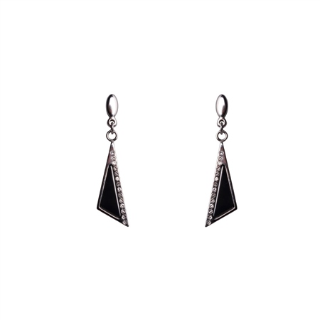 Designer Jewellery Midnight Onyx Earrings Belleek Living Jewellery, Midnight Onyx, Earrings - Click to view a larger image