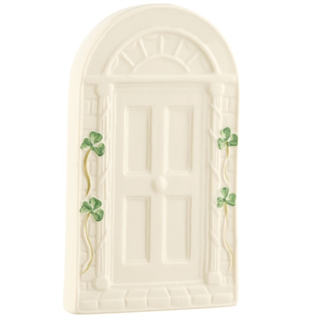 Belleek Classic Personalised Welcome Door Wall Plaque  - Click to view a larger image