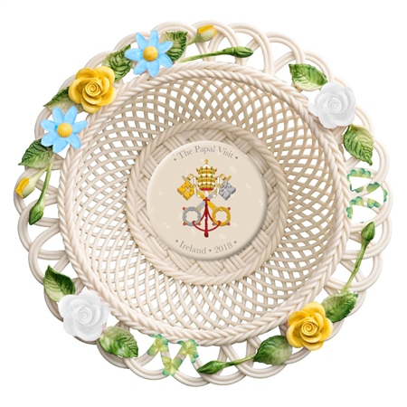 Belleek Classic Pope Francis Basket  - Click to view a larger image