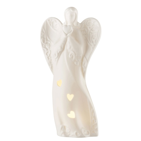 Belleek Living Angel LED Votive  - Click to view a larger image