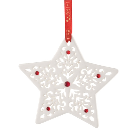 Belleek Living Pierced Christmas Star  - Click to view a larger image