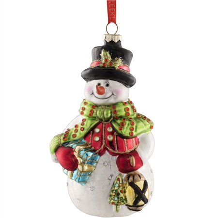 Belleek Living Snowman  - Click to view a larger image