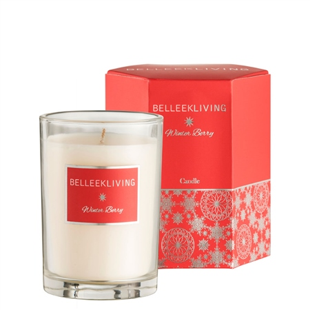 Belleek Living Winter Berry Candle  - Click to view a larger image