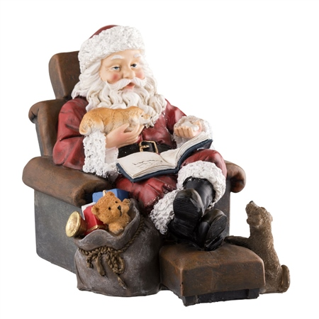 Aynsley Santa Relaxing in his Chair  - Click to view a larger image