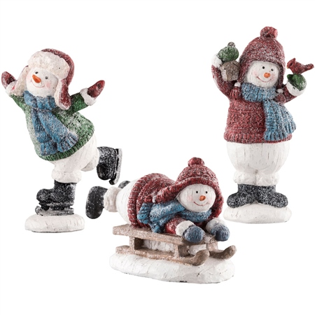 Aynsley Set of 3 Snowmen  - Click to view a larger image