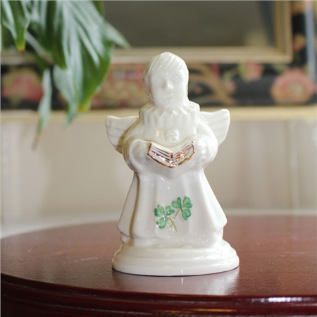 Belleek Classic Choir of Angels Song Figurine  - Click to view a larger image