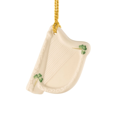Belleek Classic Harp Hanging Ornament  - Click to view a larger image