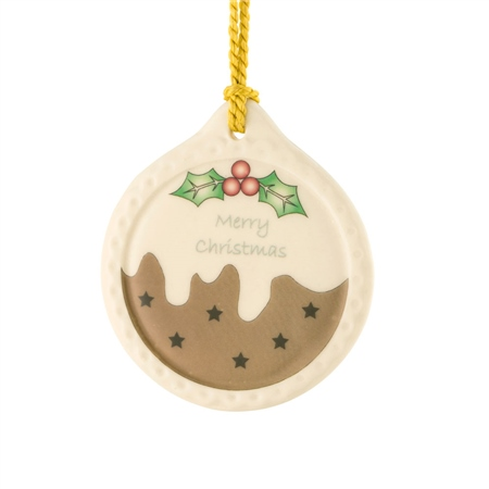Belleek Classic Plum Pudding Ornament  - Click to view a larger image