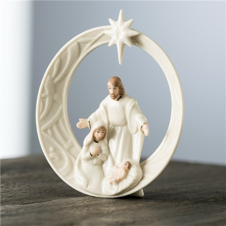 Belleek Living Christmas Star Nativity Mini Figurine  - Click to view a larger image