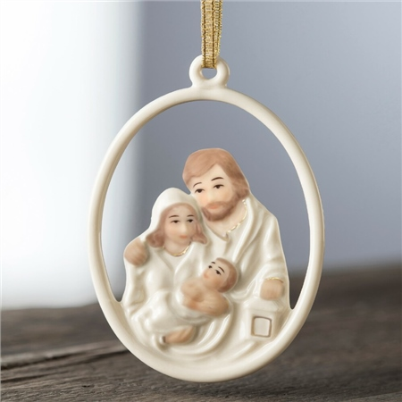 Belleek Living Nativity Family Hanging Ornament  - Click to view a larger image