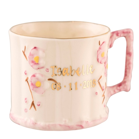 Belleek Classic Personalised Girl Name Mug  - Click to view a larger image