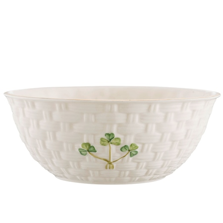 "Belleek Classic 1880 - Gold Shamrock 6"" Bowl  - Click to view a larger image"