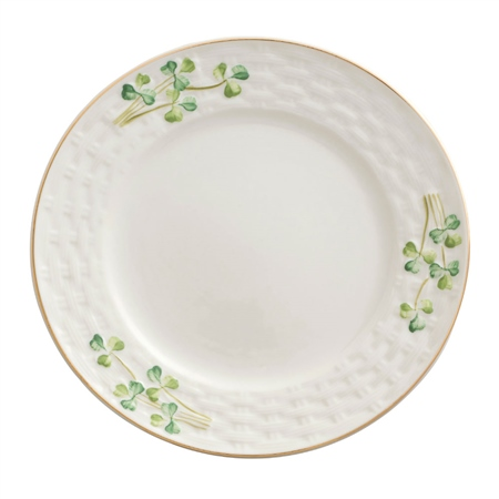 Belleek Classic 1880 - Gold Shamrock Side Plate  - Click to view a larger image