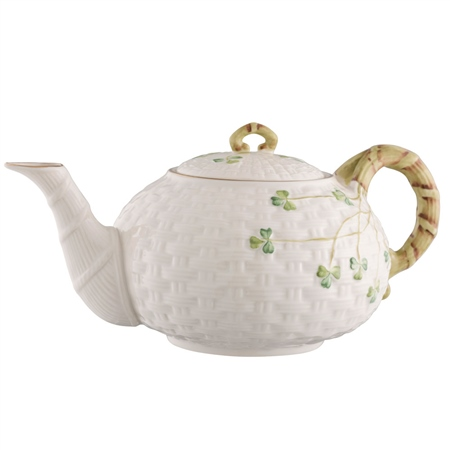 Belleek Classic 1880 - Gold Shamrock Teapot - *Belleek.com - Exclusive*  - Click to view a larger image