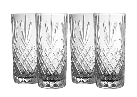 Galway Crystal Renmore HiBall Glass Set  - Click to view a larger image