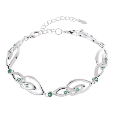 Belleek Designer Jewellery Emerald Bracelet Belleek.com Designer Jewellery - Emerald Collection - Click to view a larger image