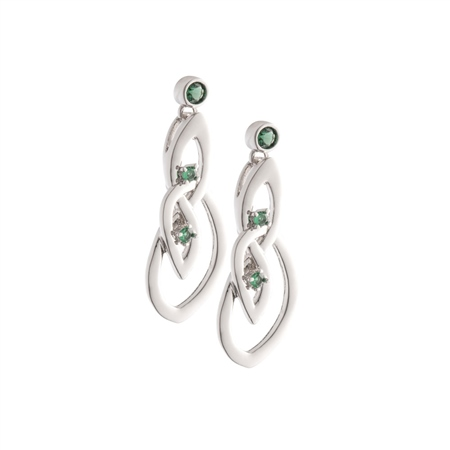 Belleek Designer Jewellery Emerald Earrings Belleek.com Designer Jewellery - Emerald Collection - Click to view a larger image