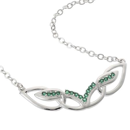 Belleek Designer Jewellery Emerald Necklace