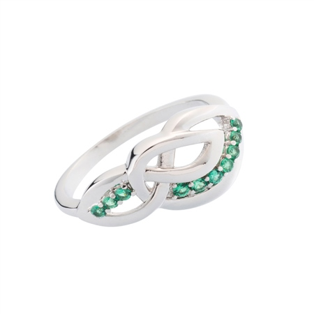 Belleek Designer Jewellery Emerald Ring  Belleek.com Designer Jewellery - Emerald Collection - Click to view a larger image