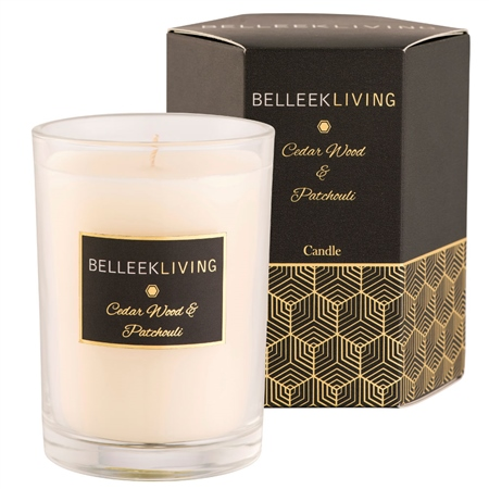 Belleek Living Cedar Wood & Patchouli Candle  - Click to view a larger image