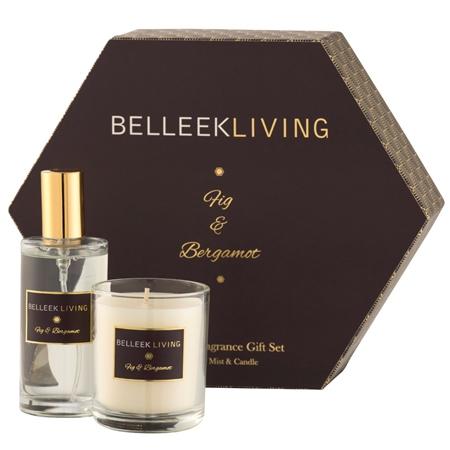 Belleek Living Fig & Bergamot Gift Set  - Click to view a larger image